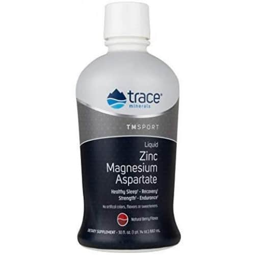 Trace Minerals - Liquid Zinc Magnesium Aspartate, Natural Berry Flavour - 887 ml.
