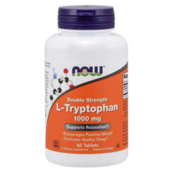 NOW Foods - L-Tryptophan, 1000mg Double Strength - 60 tabs
